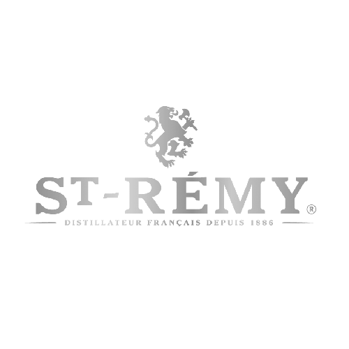 St Remy French Brandy Transparent Grey Logo