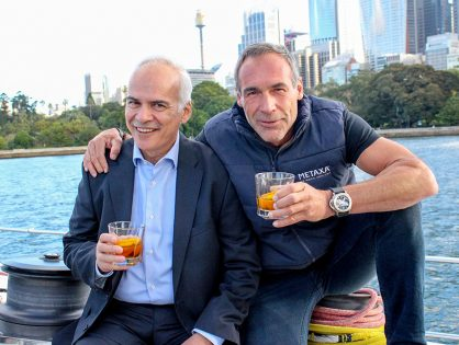Mike Horn and Constantinos Raptis. Two passions, One spirit: METAXA