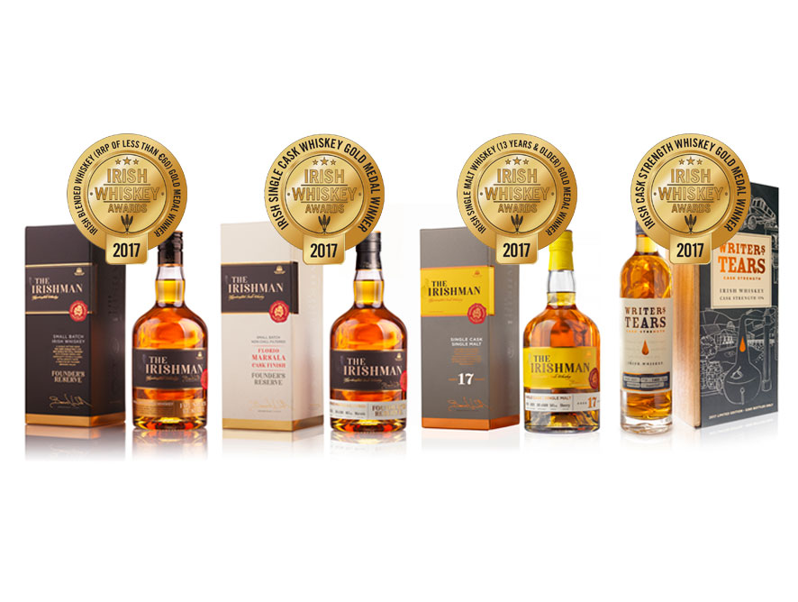 Walsh Whiskey Distillery wins four gold medals at Irish Whiskey Awards