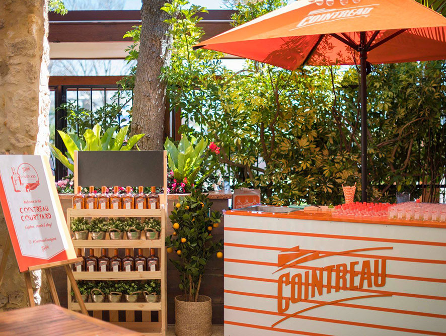 Cointreau Courtyard Pop-Up Bars