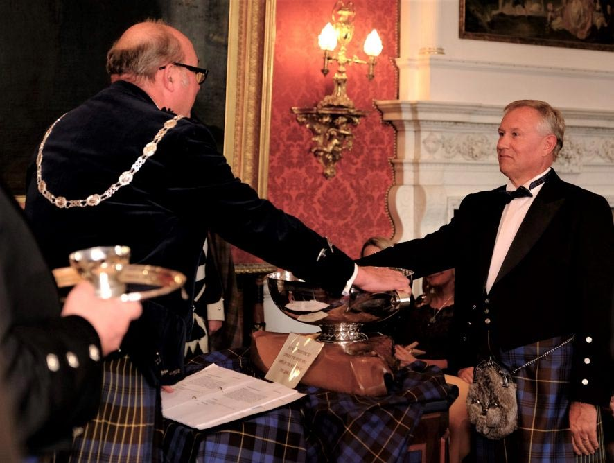 """Ian Atherton, CEO inducted into """"Keepers of the Quaich"""" Scotch Whisky Society"""