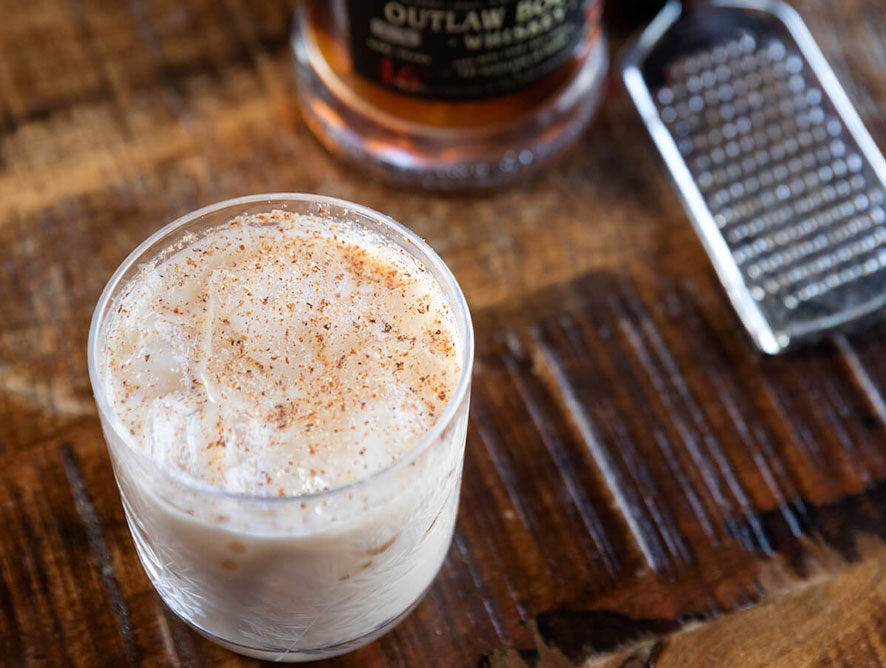 Yellow Rose Outlaw Milk Punch