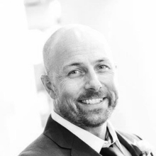 Kurt Morrison QLD/NT sales manager for Spirits Platform black and white portrait