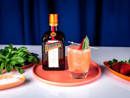 Cointreau Strawberry and Basil Margarita Cocktail Recipe